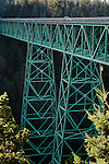Thomas Creek Bridge, the highest bridge in Oregon at 345'; southern Oregon coast..#0510486