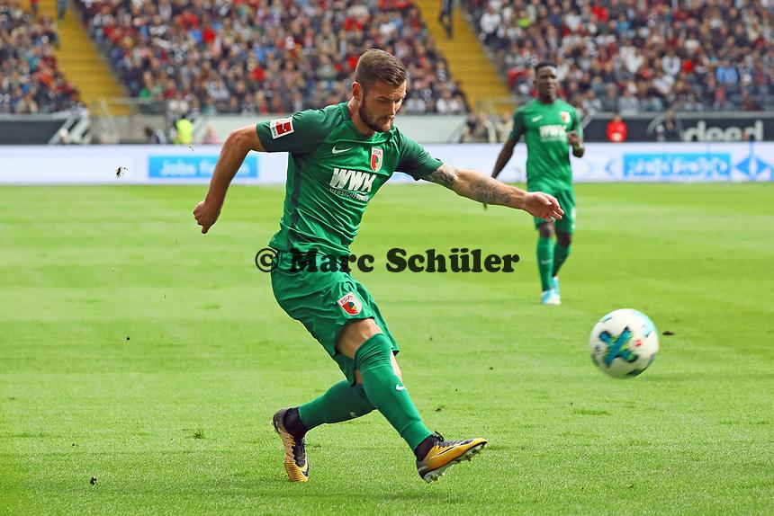 Marcel Heller (FC Augsburg) - 16.09.2017: Eintracht Frankfurt vs. FC Augsburg, Commerzbank Arena