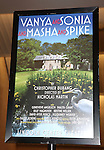 Marquee Poster at the Opening Night After Party for the Lincoln Center Theater production of 'Vanya and Sonia and Masha and Spike' at the Mitzi E. Newhouse Theater in New York City on 11/12/2012