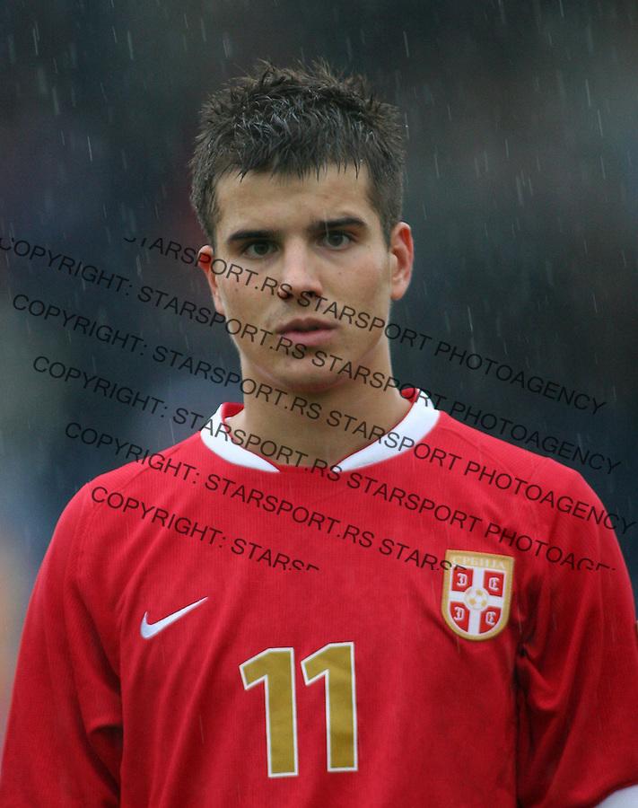 Fudbal, kvalifikacije za EURO U-21.Srbija Vs. Belorusija.Andrija Kaludjerovic.Beograd, 08.09.2007..foto: Starsport