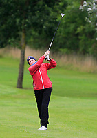 Cait Cooney (Tullamore) on the 1st fairway during the Final round of the Irish Mixed Foursomes Leinster Final at Millicent Golf Club, Clane, Co. Kildare. 06/08/2017<br /> Picture: Golffile | Thos Caffrey<br /> <br /> <br /> All photo usage must carry mandatory copyright credit      (&copy; Golffile | Thos Caffrey)