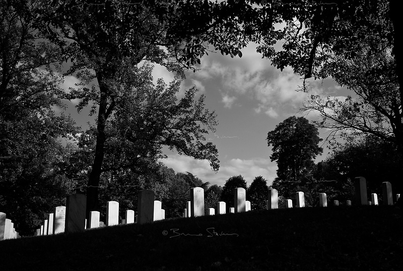 Washington DC, USA, October 23, 2008.Arlington Cemetery, in the heart of Washington, where more than 300000 US soldiers, officers or politicians are buried.