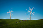 Moving Wind turbines in the Palouse Valley