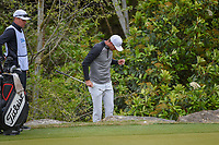 Lucas Bjerregaard (DEN) looks over his chip from near the rock ledge on 2 during day 5 of the WGC Dell Match Play, at the Austin Country Club, Austin, Texas, USA. 3/31/2019.<br /> Picture: Golffile | Ken Murray<br /> <br /> <br /> All photo usage must carry mandatory copyright credit (&copy; Golffile | Ken Murray)