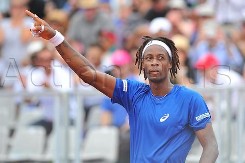 04.03.2016. Vélodrome Amédée Detraux, Guadeloupe, France. Davis Cup 1st round. France versus Canada.  Gael Monfils (Fra)