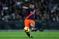 Sergio Aguero of Manchester City during Tottenham Hotspur vs Manchester City, Premier League Football at Wembley Stadium on 29th October 2018
