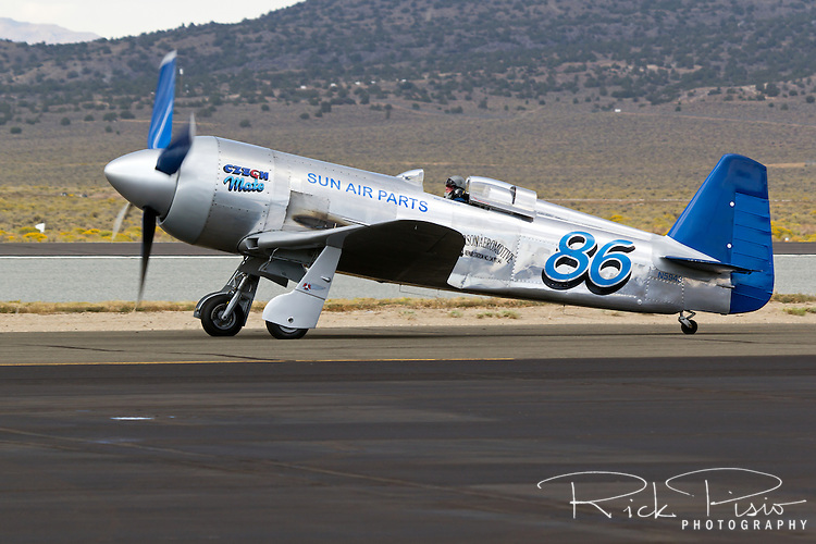 Yak-11 air racer Czech Mate taxis on the ramp at the 2013 Reno National Championship Air Races.