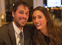December 08, 2014, Amsterdam, Amstel Hotel, Tennisser off the Year Awards, Robin Haase and girlfriend Kim de Valk<br />