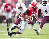 ATHENS, GEORGIA - September 5, 2015: University of Georgia Bulldogs vs. Louisiana-Monroe Warhawks at Sanford Stadium.