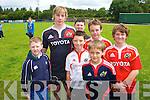 Danny Barnes with Luke Murphy, Daire Kennelly, Robbie Murphy, Darragh Ryan, Luke Moynihan and Ben O'Neill.
