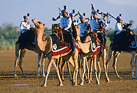 Royal Mounted Band playing bagpipes, Oman