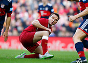 24th March 2018, Anfield, Liverpool, England; LFC Foundation Legends Charity Match 2018, Liverpool Legends versus FC Bayern Legends; Vladimir Smicer of Liverpool Legends gets up after a tackle