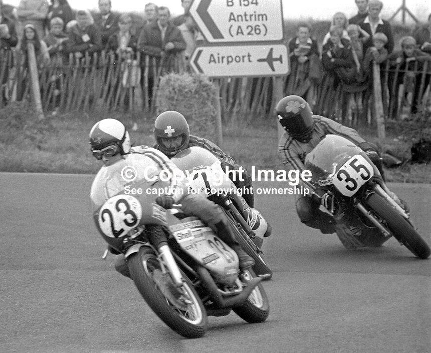 Ulster Grand Prix - 1973 - 197308180571AA. Can you identify the riders in this photo? If you can please get in touch.<br />