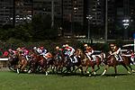 Jockey #5 Tommy Berry (R) riding Hall Of Fame during the race of Hong Kong Racing at Happy Valley Race Course on November 29, 2017 in Hong Kong, Hong Kong. Photo by Marcio Rodrigo Machado / Power Sport Images