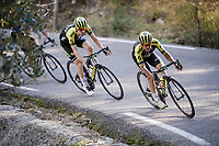 Esteban Chaves (COL/Mitchelton-Scott) splitting up the peloton up the climbs<br /> <br /> Stage 6: Peynier to Brignoles (176km)<br /> 77th Paris - Nice 2019 (2.UWT)<br /> <br /> ©kramon