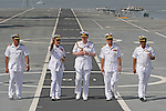 "PRINCE ANDREW.tours the Indian aircraft carrier INS Viraat (formally HMS Hermes on which his brother Prince Charles had served in the capacity of British naval officer), in Mumbai, India_May 2, 2012. .The Duke of York, who is representing Queen Elizabeth II in the year of her Diamond Jubilee is on a week long tour of India..Mandatory Credit Photo: ©Sherwin Crasto-Solaris/NEWSPIX INTERNATIONAL..(Failure to credit will incur a surcharge of 100% of reproduction fees)..                **ALL FEES PAYABLE TO: ""NEWSPIX INTERNATIONAL""**..IMMEDIATE CONFIRMATION OF USAGE REQUIRED:.Newspix International, 31 Chinnery Hill, Bishop's Stortford, ENGLAND CM23 3PS.Tel:+441279 324672  ; Fax: +441279656877.Mobile:  07775681153.e-mail: info@newspixinternational.co.uk"