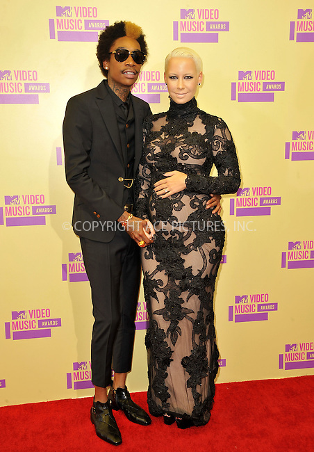 WWW.ACEPIXS.COM....September 6, 2012, Los Angeles, CA.......Amber Rose and Wiz Khalifat arriving at the 2012 MTV Video Awards at the Staples Center on September 6, 2012 in Los Angeles, California. ..........By Line: Peter West/ACE Pictures....ACE Pictures, Inc..Tel: 646 769 0430..Email: info@acepixs.com