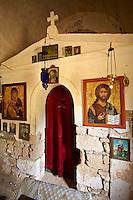 Interor of the Greek Orthodox chuch of Ayios Eletherios, Paliachora,  Aegina, Greek Saronic Islands