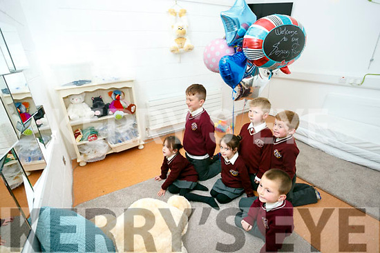 Holy Family School Opening of Sensory Room on Tuesday. Pictured Jamie O'Connor, Edel Bentley Beer and Tiegan Bentley Beer, Tyler McMahon, Tommy Murray,Callum O'Leary