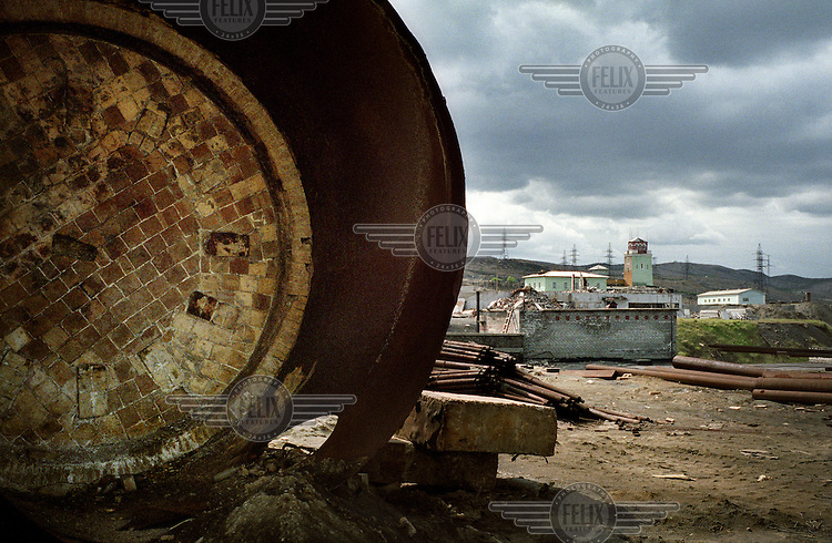 An industrial complex in Murmansk. Nickel smelting and other heavy industry have heavily damaged the environment in this region.