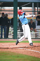 Ismael Lopez (3) of Arington Heights High School in Fort Worth, Texas during the Under Armour All-American Pre-Season Tournament presented by Baseball Factory on January 14, 2017 at Sloan Park in Mesa, Arizona.  (Art Foxall/MJP/Four Seam Images)