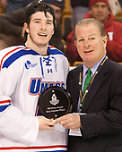 C.J. Smith (UML - 19) The University of Massachusetts-Lowell River Hawks defeated the Boston College Eagles 4-3 to win the 2017 Hockey East tournament at TD Garden on Saturday, March 18, 2017, in Boston, Massachusetts.