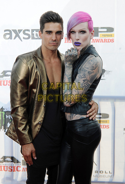 21 July 2014 - Cleveland, OH - Music artist JEFFREE STAR and guest attend the 1st Annual 2014 Gibson Brands AP Music Awards at the Rock and Roll Hall of Fame and Museum   <br /> CAP/ADM/JN<br /> &copy;Jason L Nelson/AdMedia/Capital Pictures