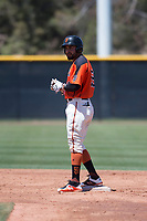 San Francisco Giants Orange outfielder Robinson Medrano (28) during an Extended Spring Training game against the Seattle Mariners at the San Francisco Giants Training Complex on May 28, 2018 in Scottsdale, Arizona. (Zachary Lucy/Four Seam Images)