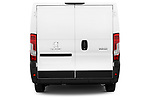 Straight rear view of a 2018 Peugeot Boxer Pro 5 Door Cargo Van stock images