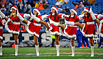 23 December 2007: Buffalo Bills cheerleaders, the Buffalo Jills, perform prior to a game against the New York Giants at Ralph Wilson Stadium in Orchard Park, NY. The Giants defeated the Bills 38-21. ..Mandatory Photo Credit: Ed Wolfstein Photo