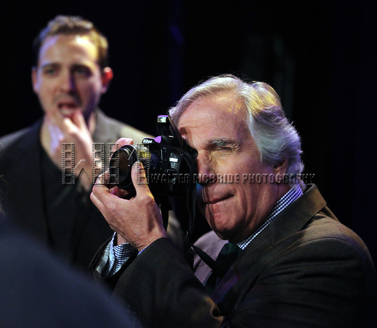 "Actpr Henry Winkler attends press event to introduce the cast and creators of the new Broadway play ""The Performers""at the Hard Rock Cafe on Tuesday, Sept. 25, 2012 in New York."