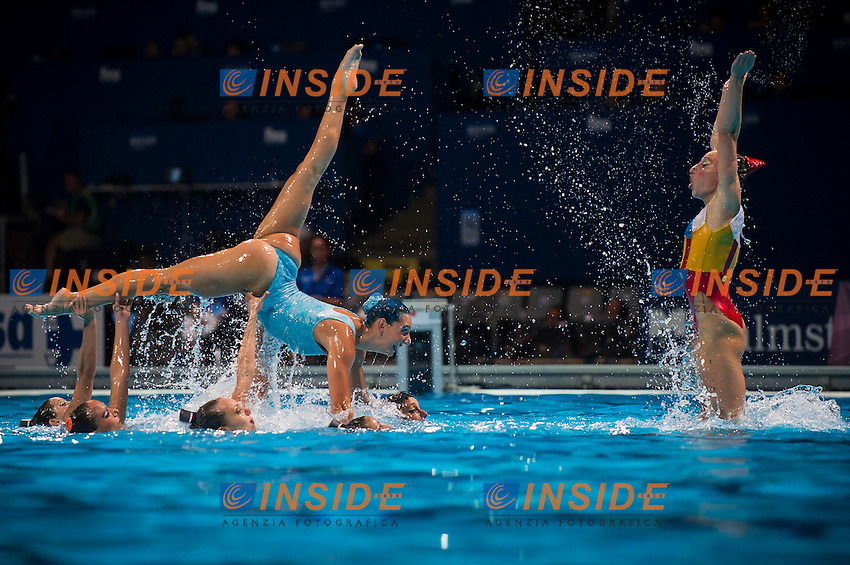 Team Italy<br /> Free Combination final<br /> Synchronised swimming<br /> 15th FINA World Aquatics Championships<br /> Barcelona 19 July - 4 August 2013<br /> Palau Sant Jordi, Barcelona (Spain) 27/07/2013 <br /> &copy; Giorgio Perottino / Deepbluemedia.eu / Insidefoto