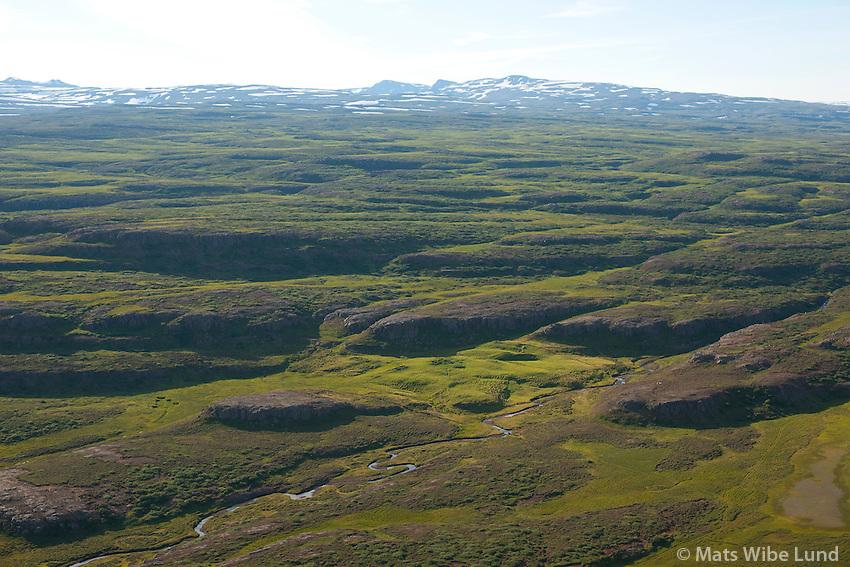 Hrjótur séð til suðausturs, Fljótsdalshérað áður Hjaltastaðarhreppur. /  Hrjotur viewing southeast, Fljotsdalsherad former Hjaltastadahreppur.