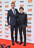 08 September 2018 - Toronto, Ontario, Canada - Alexander Skarsg&aring;rd, Jesse Eisenberg. &quot;The Hummingbird Project&quot; Premiere - 2018 Toronto International Film Festival held at the Princess of Wales Theatre. <br /> CAP/ADM/BPC<br /> &copy;BPC/ADM/Capital Pictures