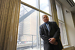 David Protess is seen in the hallway of his new office at the Chicago Innocence Project, the non-profit Protess recently started, in downtown Chicago, Illinois on June 15, 2011.