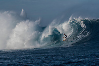 Namotu Island Resort, Nadi, Fiji (Sunday, October 7th  2018):   - Russell Bierke (AUS)<br /> The South swell was  double overhead this morning with solid sets at Cloudbreak, Lefts and Wilkes. Pools also had good waves  on the dropping tide. The wind was very light early and came up from the SSE around midday. The new guests surfed Cloudbreak, Pools and Lefts through the day.<br /> Cloudbreak was a solid 12' with some waves having at least 15' faces. Guys like Mick Fanning (AUS), Dingo Morrison (AUS) and Keahi De Anoitiz (AUS) were standouts. Photo: joliphotos.com