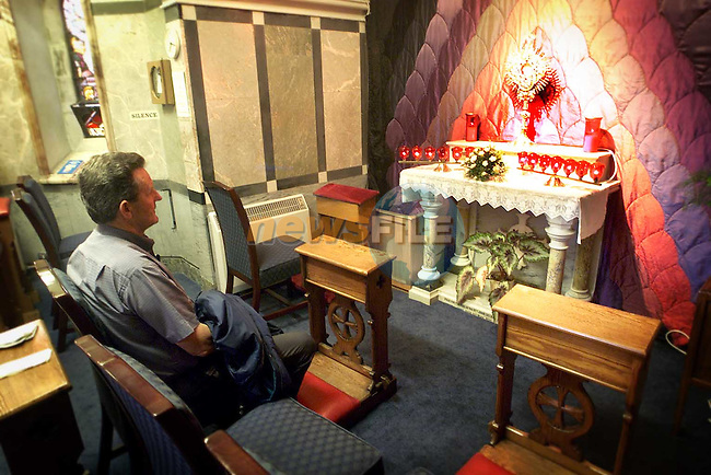 Praying in St. Peter's Blessed Sacrament Chapel..Picture Paul Mohan Newsfile