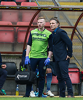 Wycombe Wanderers Manager Gareth Ainsworth & Wycombe Wanderers Physiotherapist Cian O'Doherty during the Sky Bet League 2 match between Leyton Orient and Wycombe Wanderers at the Matchroom Stadium, London, England on 1 April 2017. Photo by Andy Rowland.