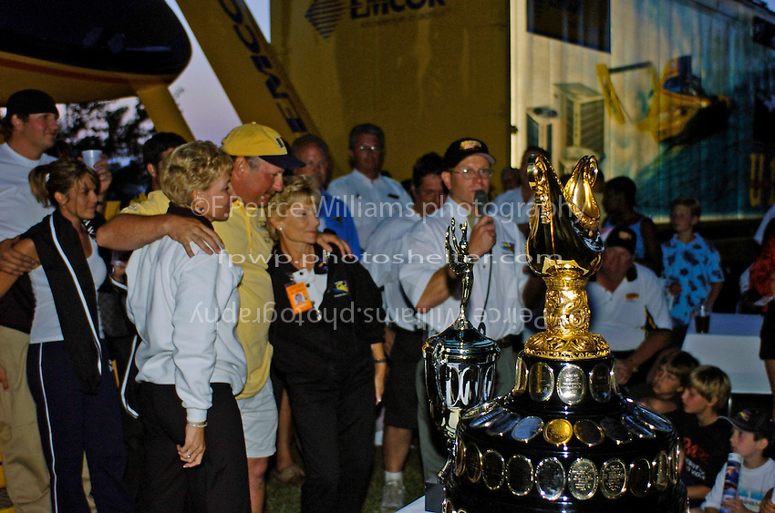 """The  U-10 """"Miss DYC"""" team and the Gold Cup."""