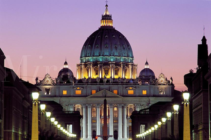 Italy,Rome, The Vatican, Saint Peter's Basilica and Via D. Conciliazione.NO PROPERTY RELEASE