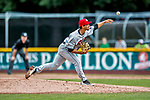 25 July 2017: Tri-City ValleyCats pitcher Luis Ramirez on the mound against the Vermont Lake Monsters at Centennial Field in Burlington, Vermont. The Lake Monsters defeated the ValleyCats 11-3 in NY Penn League action. Mandatory Credit: Ed Wolfstein Photo *** RAW (NEF) Image File Available ***