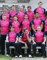 Steven Finn starts to look a little bored during the Middlesex photo shoot - Middlesex County Cricket Club Press Day at Lords Cricket Ground, London - 08/04/13 - MANDATORY CREDIT: Rob Newell/TGSPHOTO - Self billing applies where appropriate - 0845 094 6026 - contact@tgsphoto.co.uk - NO UNPAID USE.
