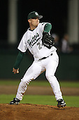 February 20, 2010:  Pitcher Justin Dechert (24) of the Stetson Hatters during the teams opening series at Melching Field at Conrad Park in DeLand, FL.  Photo By Mike Janes/Four Seam Images
