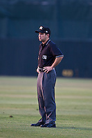 First Base Umpire Ramon Hernandez during the Dunedin Blue Jays and Daytona Cubs game at Jackie Robinson Ballpark on April 11, 2012 in Daytona Beach, Florida. (Scott Jontes / Four Seam Images)