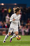 Luka Modric of Real Madrid in action during their La Liga match between Atletico de Madrid and Real Madrid at the Vicente Calderón Stadium on 19 November 2016 in Madrid, Spain. Photo by Diego Gonzalez Souto / Power Sport Images
