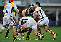 Leroy Houston of Bath Rugby takes on the Wasps defence. European Rugby Champions Cup match, between Bath Rugby and Wasps on December 19, 2015 at the Recreation Ground in Bath, England. Photo by: Patrick Khachfe / Onside Images