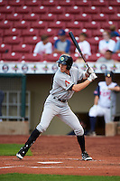Kane County Cougars outfielder Colin Bray (8) at bat during a game against the Cedar Rapids Kernels on August 18, 2015 at Perfect Game Field in Cedar Rapids, Iowa.  Kane County defeated Cedar Rapids 1-0.  (Mike Janes/Four Seam Images)