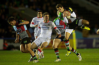 Ollie Lindsay-Hague of Harlequins 'A' is secure under the high ball during the Aviva Premiership A League Final between Harlequins A and Saracens Storm at the Twickenham Stoop on Monday 17th December 2012 (Photo by Rob Munro)