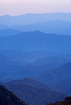 Southwest view from Soco Gap, Mile 454, Blue Ridge Parkway, North Carolina, USA
