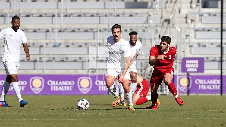 Orlando, Florida - Wednesday January 17, 2018: Pol Calvet Planellas. Match Day 3 of the 2018 adidas MLS Player Combine was held Orlando City Stadium.